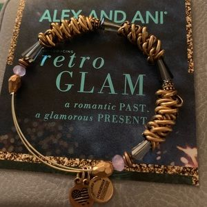 Alex and Ani bracelet with gold detail